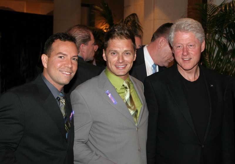 Nestor Paz, Edison Farrow and Bill Clinton