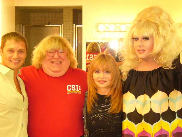 Edison Farrow, Bruce Vilanch, Judy Tenuta and Lady Bunny