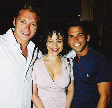 Edison Farrow, Rosie Perez and Alexander Meadows