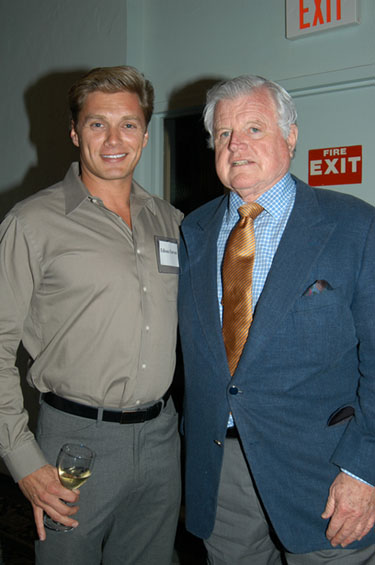 Edison Farrow and Ted Kennedy